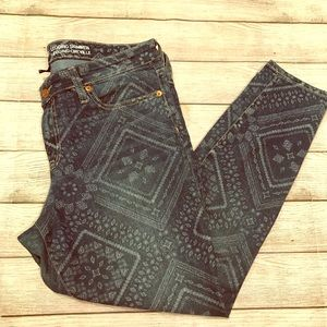 GAP Printed Skimmer Leggings Jeans Size 12